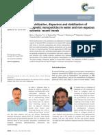 Magnetic Nanoparticles Dispersion-rsc Adv