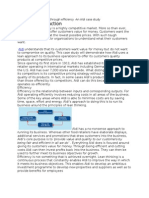 ALDI Competitive Advantage Through Efficiency