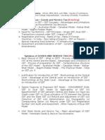 Goods and Service Tax - Syllabus