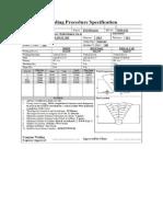 Welding Procedure Specification