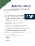 Draft a Basic Pattern Block.docx
