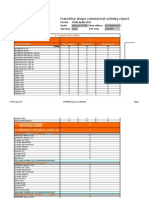 Franchise Shop Weekly Report Template