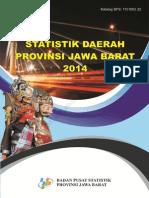 Statistik Daerah Provinsi Jawa Barat 2014