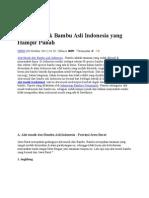 25 Alat Musik Bambu Asli Indonesia Yang Hampir Punah