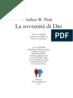 La sovranità di Dio, di A. W. Pink