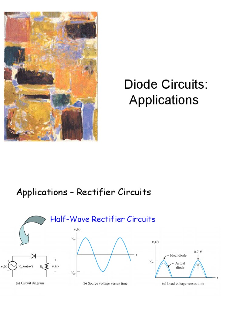 Lecture6 Diode Circuits Applicationsppt Electrical Network Rectifier
