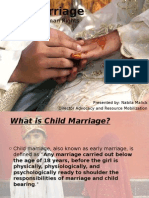 Early age marriages Presentation