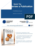 0. How to Review a Publication