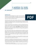 Procurement Guidelines for Tender
