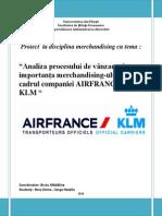 AirFrance - analiza procesului de vanzare