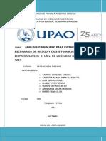ANÁLISIS FINANCIERO DE LA EMPRESA SAYSER  E. I.R.L -CIUDAD DE TRUJILLO 2013..doc