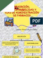 ABSORCIÓN, BIODISPONIBILIDAD Y VIAS DE ADMINISTRACIÓN DE FARMACOS
