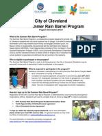 2015 Rain Barrel Information Sheet
