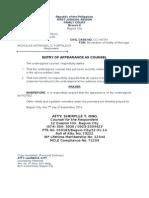 Leg Forms Civil Draft