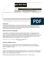 Turbocharger Compressor Calculations