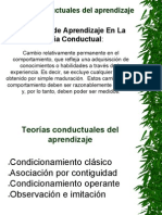 Teorías Conductuales Del Aprendizaje.ppt