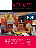 2015 Contexts -- Annual Report of the Haffenreffer Museum of Anthropology