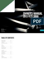 Yeti SB-66 2013 owners manual