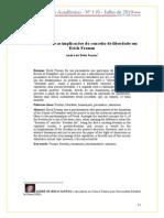 Reflexões sobre as implicações do conceito de liberdade em  Erich Fromm  André de Melo Santos