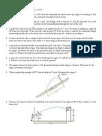Problem Set (Projectile&Curvilinear Motion)