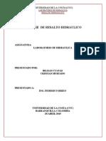 Informe de Resalto Hidraulico