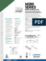 Securitron M380 Data Sheet