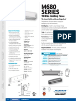 Securitron M680 Data Sheet