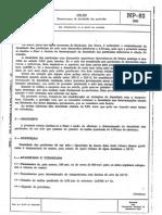 NP 83 - 65 Solos - Determinação Da Densidade Das Partículas