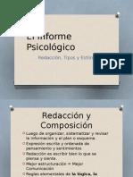El Informe Psicológico - Redacción, Tipos y Estilos