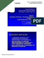 AULA 2 2010 - Vedações-Conceitos Básicos e Alvenarias-Caracteristicas e Projeto