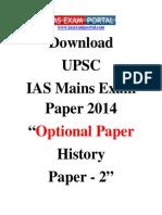 Download UPSC IAS Mains E.m,.xam Paper 2014 Optional History Paper 2 Www.iasexamportal.com (1)