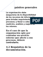 Requisitos Generales de La Norma Iso