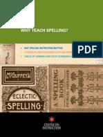 Why Teach Spelling