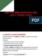 Mot So Diem Ngu Phap Can Luu y Trong TOEFL