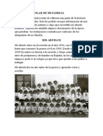 Historia Escolar de Mis Antepasados
