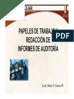 Papeles de Trabajo y Redacción de Informes de Auditoría 2014