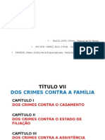 Dos Crimes Contra a Família (235-249) DP IV