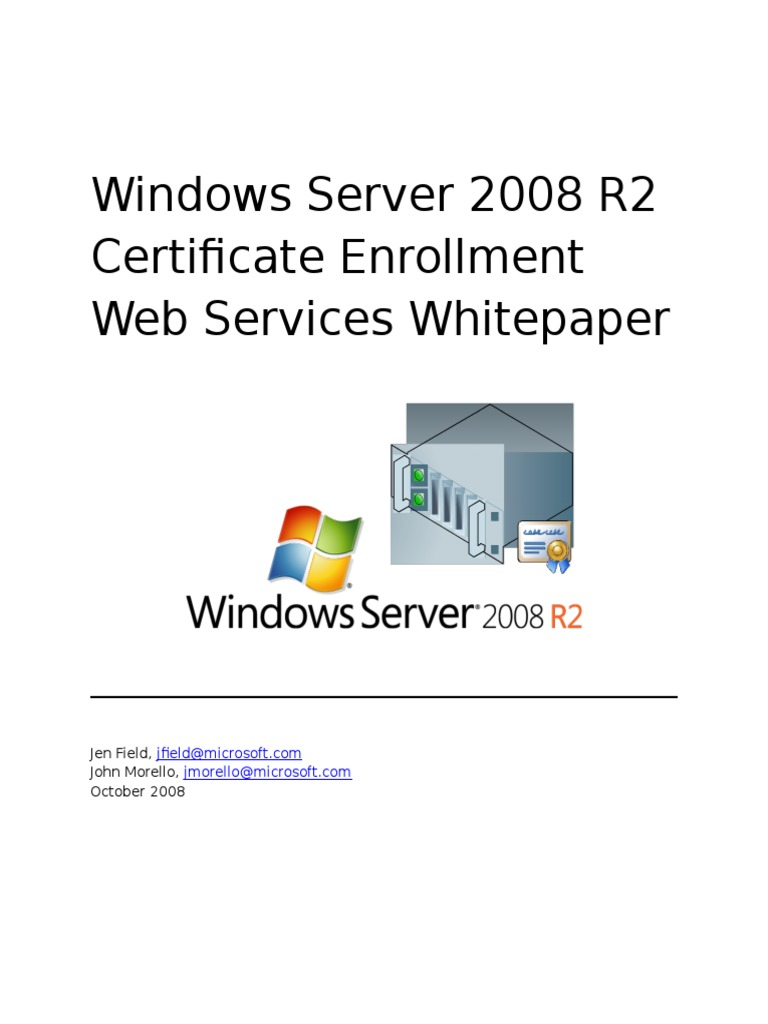 Windows server 2008 r2 certificate enrollment web services load windows server 2008 r2 certificate enrollment web services load balancing computing public key certificate yelopaper Choice Image