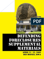 Defending Foreclosure