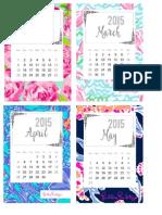 FebMarAprMay Calendars