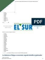 08-05-15 La Violencia en Chilapa Es Recurrente, Responde Astudillo Al Gobernador _ El Sur de Acapulco I Periódico de Guerrero