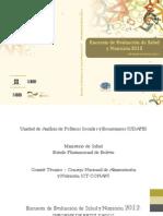 Encuasta Nacionial de Salud 2012