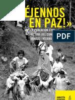 Dejenos en Paz_Informe Amnistia Internacional sobre el conflicto en Colombia