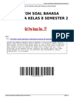 Contoh Soal Bahasa Indonesia Kelas 8 Semester 2