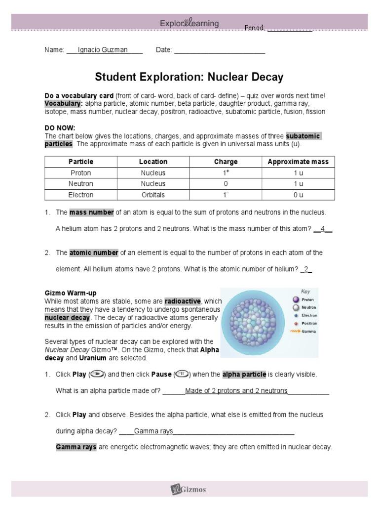 Nucleardecay Explorelearninig 1 Radioactive Decay Atoms