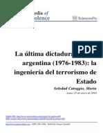 La Ultima Dictadura Militar Argentina 1976 1983 La
