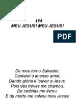 184 - Meu Jesus, Meu Jesus