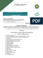 Tematica Pentru Examenul de Certificare a Calificarii Profesionale Nivel 5 - Asistent Medical de Farmacie 2015