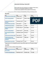 Fundametals of University Teaching Spring 2015 Workshop Schedule. Docx
