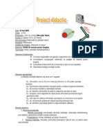 Proiect Didactic Mate